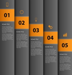 Info graphic with dark stripes design template vector