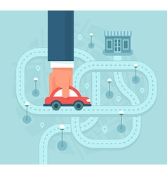 Help Customers Find Local Business by Car vector image