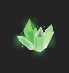 Green crystal icon vector