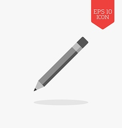 Pencil icon flat design gray color symbol modern vector