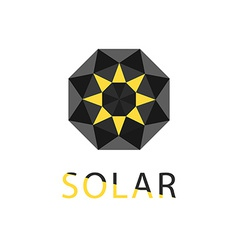 Abstract symbol of sun solar technology logo vector
