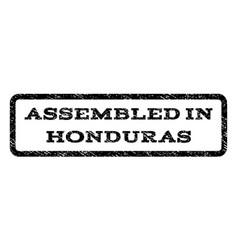 Assembled in honduras watermark stamp vector