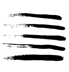 Black Grungy Abstract Hand-painted Brush Strokes vector image