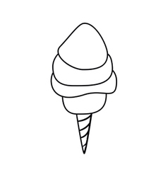 Candy cotton of fair food design vector