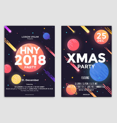 christmas flyers templates vector image vector image
