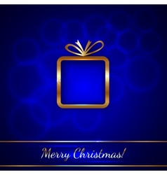 Christmas Greeting Card with Gift vector image vector image