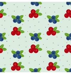 Cranberry and blueberry seamless pattern 1 vector
