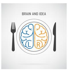 Creative left brain and right brain idea concept vector