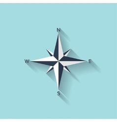 Flat compass web symbol vector
