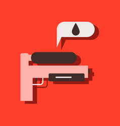 Flat icon design collection water gun in sticker vector