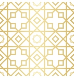 Golden abstract geometric pattern with rhombus vector image vector image