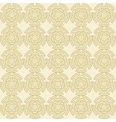 Golden geometric seamless ornament vector image vector image