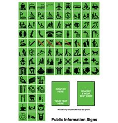 Green public information signs vector