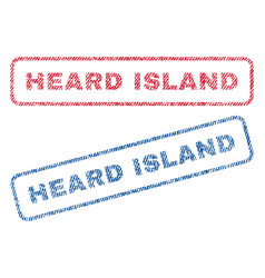 Heard island textile stamps vector