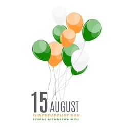 Indian independence day background with balloons vector