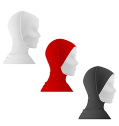 Muslim female mannequin in hijab vector