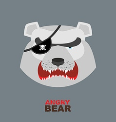 Polar bear head angry bear logo hockey emblem vector