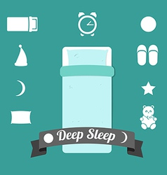 Set of icons on a theme of deep sleep vector
