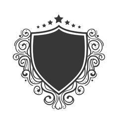 shield ornament decoration vector image vector image