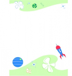 space paper vector image