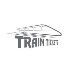 Train tickets design template vector