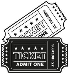 vintage modern ticket vector image vector image