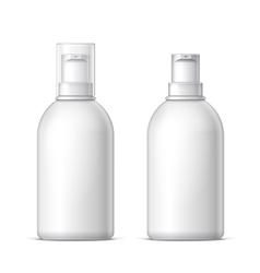 White plastic bottle can sprayer vector