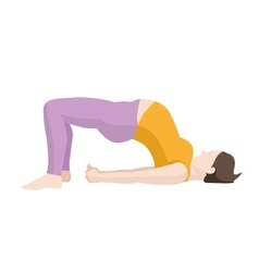 Pregnant woman exercise yoga planking or vector
