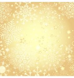 Golden Christmas frame vector image