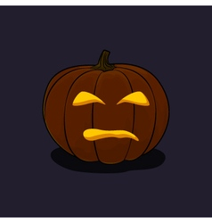 Halloween evil pumpkin on dark background vector