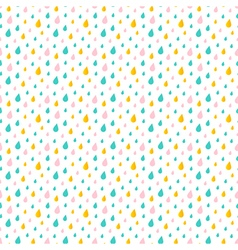 Cute little colorful water drops rain pattern vector