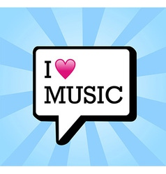 I love music background vector