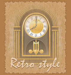 retro style poster old clock vector image