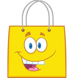 Colored shopping bag vector image