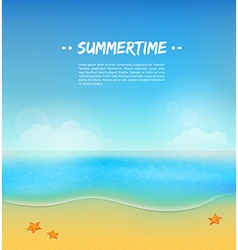 Summer background with sand and water vector