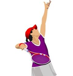 al 0807 tennis 02 vector image