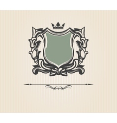 Vintage ornate shield vector image