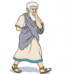 Greek philosopher vector image