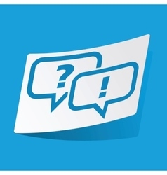 Question answer sticker vector