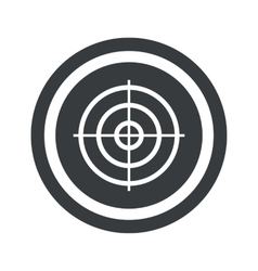 Round black aim sign vector