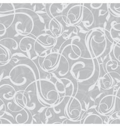 Gray swirly texture seamless pattern vector