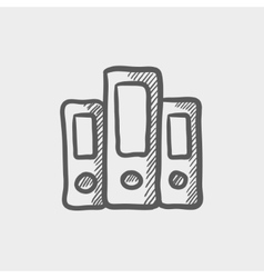Book file sketch icon vector