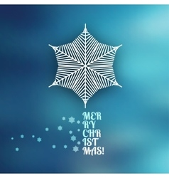Merry christmas card with snowflake vector