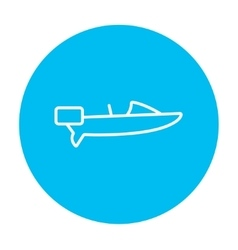 Motorboat line icon vector