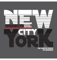 New York city t-shirt vector image