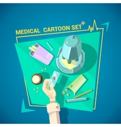 Doctor design set vector