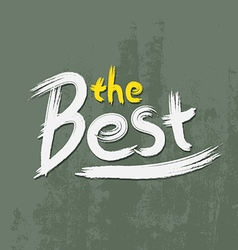 The best font paint vector
