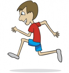 Boy running vector