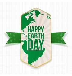 Happy earth day big striped banner vector