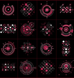 Set of modular bauhaus backgrounds created from vector